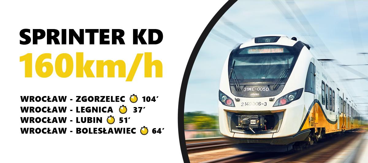 Pociąg Sprinter Koleje Dolnośląskie - Wrocław - Legnica