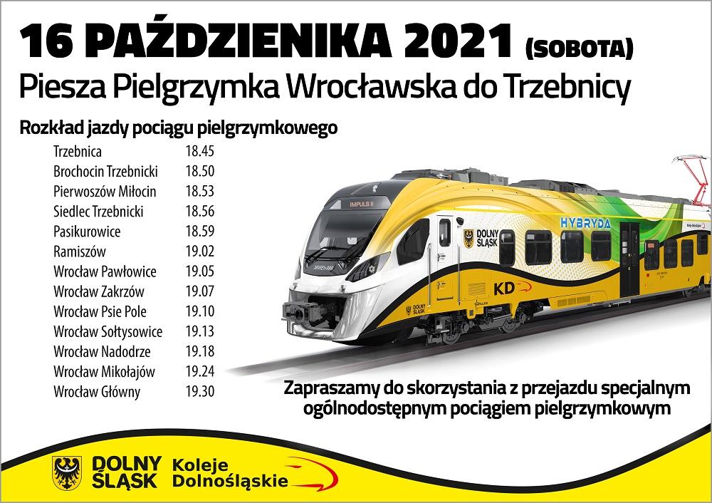 Pielgrzymka Wrocławska do Trzebnicy - Pociąg Specjalny